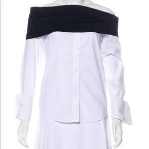 Jacquemus White Boat Neck Shirt
